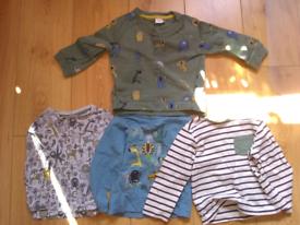 Animal sweatshirt and matching t-shirts size 18-24 months
