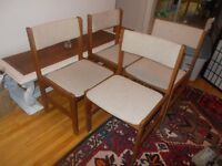 4 Teak Dining Room Chairs-$60.00 for the set!