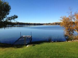 Beautiful level fully serviced waterfront lot on Watch Lake
