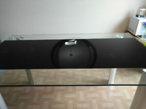 Table en verre comme neuf/Excellent glass dining table