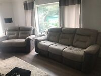 NEARLY NEW 2 & 3 seater electric reclining sofas