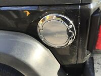 Jeep Wrangler chrome gas door