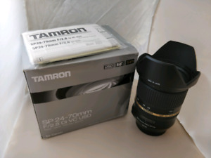Tamron 24mm - 70mm F/2.8    Di SP VC Canon Lens