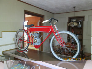 novelty replica of old motorcycle