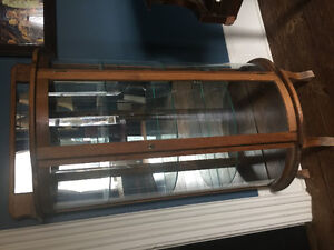 Display Cabinet with glass shelves and mirrored back