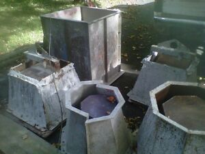 Molds for Concrete Planters and Garbage Receptacle