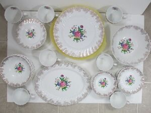Vintage Set of Johnson Bros. Ironstone Dishes 49 Piece Set