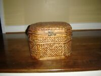 WICKER STORAGE CHEST FROM BOMBAY STORE