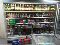 SHOP / OFF LICENSE FRIDGES, 4 x CHEST FREEZER and CARD STANDS and newspaper stands