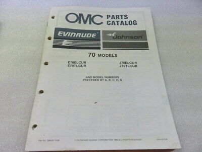 PM64 1987 Evinrude Johnson OMC 70 Models OEM Parts Catalog Manual P/N 398628