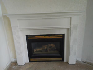 White fireplace mantel, great condition!