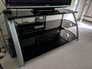 Tempered glass entertainment unit - $80 (Vancouver West End)