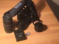 Canon EOS 60D DSLR + 18-135mm lens + 50mm lens + 75-300mm lens
