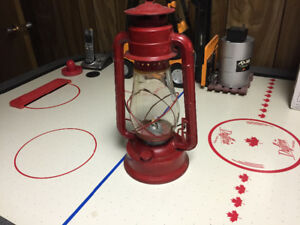 Red antique oil lantern