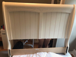 Solid wood full-double bed frame!