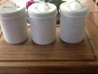 Set of tea coffee and sugar canisters