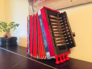 Vintage M. Hohner Accordion, Made in Germany, Circa 1940