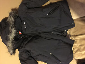 Women's winter Columbia jacket with omniheat technology