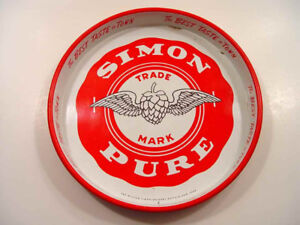 Vintage Simon Pure Old Abbey Beer Tray