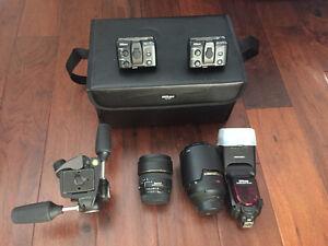 Nikon 105mm Sigma 15mm Nikon SB-900 Nikon R1 Manfrott Head