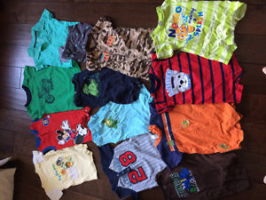 12 Rompers, 5 Onsies and 2 Bathing Suits