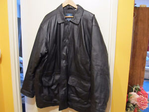 Men's insulated leather jacket, brand new condition.