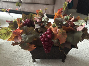Two beautiful fall metal floral baskets