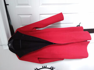 100% Alpaca Coat Reversible, Red, Black Kingston Kingston Area image 2