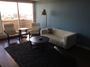 Furnished 12 floor condo on Whyte Ave June - Sept 3