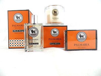 Palmeria Eau de Cologne 100 ml Orange Blossom & 150 g Seife + Duftkerze 130 g - Orange Blossom Duft