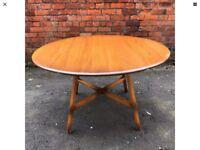 Vintage 1970s Blonde Ercol Drop Leaf Dining Table