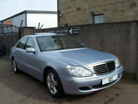 2004 MERCEDES S-CLASS S320 CDi DIESEL 4DR AUTO COMMAND SATNAV LOW MILEAGE ALLOYS