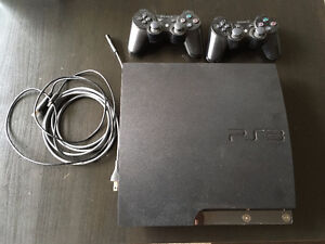 Playstation 3 w/ 2 controllers and games