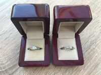 Diamond Princess Cut Engagement Ring 1.4ct and Matching Diamond Wedding Band 0.6ct Platinum