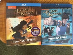 Avatar legend of korra book 1+2 blue ray
