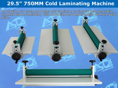 Intbuying 29.5 Manual Cold Roll Laminator Mount Laminating Machine 750mm