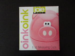 Oink Oink pink piggy measuring cup set Brand new in box London Ontario image 6
