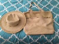 Beach bag and hat