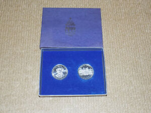 2 COIN SET 1996 HAMILTON ON 150TH BIRTHDAY ONE & ONE HALF DOLLAR