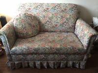 Custom made floral loveseat - excellent shape