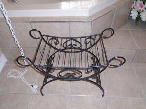 wrought iron roman chair garden seat bath seat suitcase valet