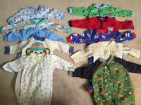 Baby boy sleepers 0-3 month lot