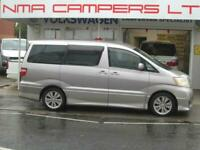 Toyota Alphard Campervan LOW MILES AUTO 5 SEATER 5DR 2 BERTH