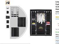 Canvas wardrobe / Storage Cupboard