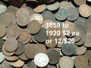 LARGE CENTS COINS NEWFOUNDLAND MORE SUNDAY AUGUST 19