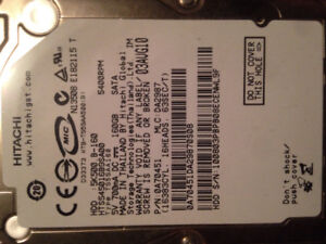 Selling a 160 GB 2.5'' 5400RPM Harddrive (out of a Slim PS3)