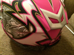 Womens Zox Ltd Ed. Pink Helmet with Pink Fox Goggles Brand New X Cambridge Kitchener Area image 6