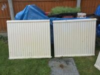 3 single panel radiators £45 each