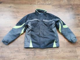 Parallel Technical Wear Snowboard Par Jacket Grey Lime Size L Fleece