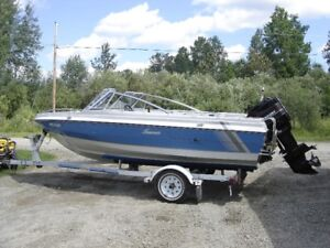 1990 St. Maurice boat with 90hp Mercury and trailer